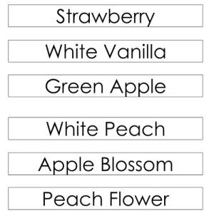 nama perfumes